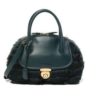 Salvatore Ferragamo bag,Genuine Rabbit Fur Satchel